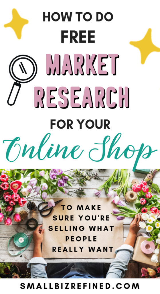 Doing market research for your small business doesn't have to be difficult or expensive. It's as simple as asking and listening. These strategies will show you how to figure out which types of products your audience is looking for, including where to find inspiration for products to make for your Etsy or online shop. There are lots of ways to find product ideas! #etsyshop #etsytips #smallbusiness #entrepreneur #ecommerce