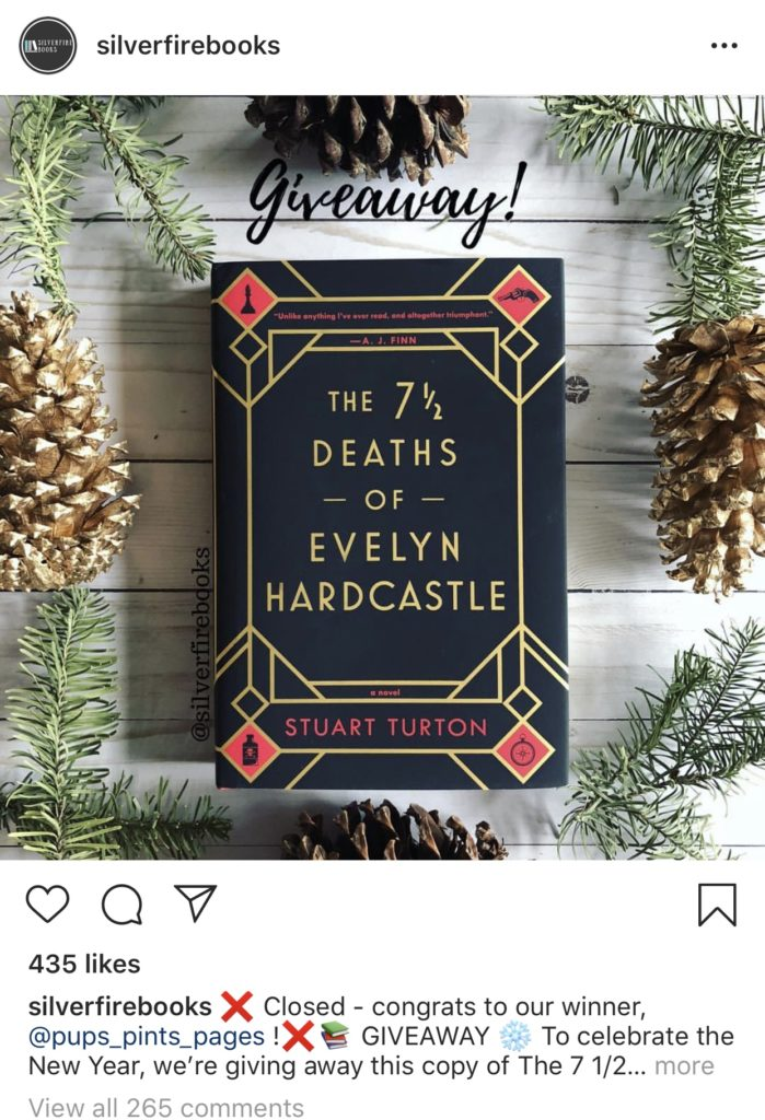 How to do a giveaway on Instagram example post