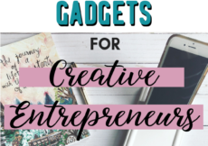 Click for the 7 BEST tech accessories & gadgets for creative entrepreneurs. These are the awesome tools I use to save time and increase productivity in my online shop & business. #creativeentrepreneur #etsyshop #smallbusiness #smallbiz #productivity