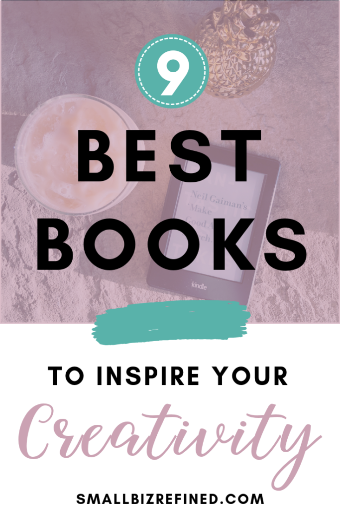 Looking for a jolt of creative inspiration? These 9 books on creativity and artistic inspiration may just lead you to your next creative breakthrough. They're perfect books for creative entrepreneurs and artists. Click to see the list! #creatives #inspiration #entrepreneur #smallbusiness #smallbiz #artist