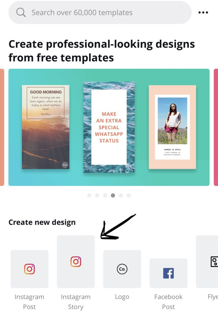 Canva Instagram Story App Screenshot