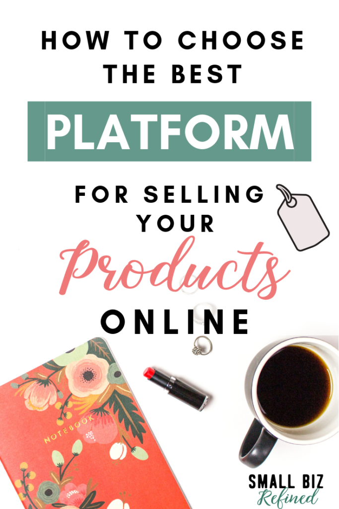 Looking to open an online shop? Not sure where to sell products online? Click for a list of platforms and sites for selling products online (plus how I sell products without a marketplace). This post will help you decide which place is best for your online store! #smallbiz #smallbusiness #onlinebusiness #ecommerce #entrepreneur #creative